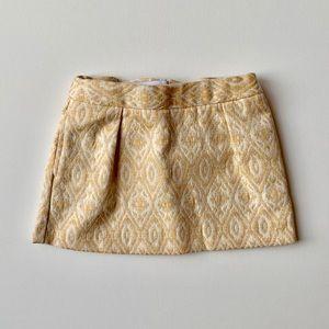 Genuine Kids Toddler Girl Mustard Ikat Skirt